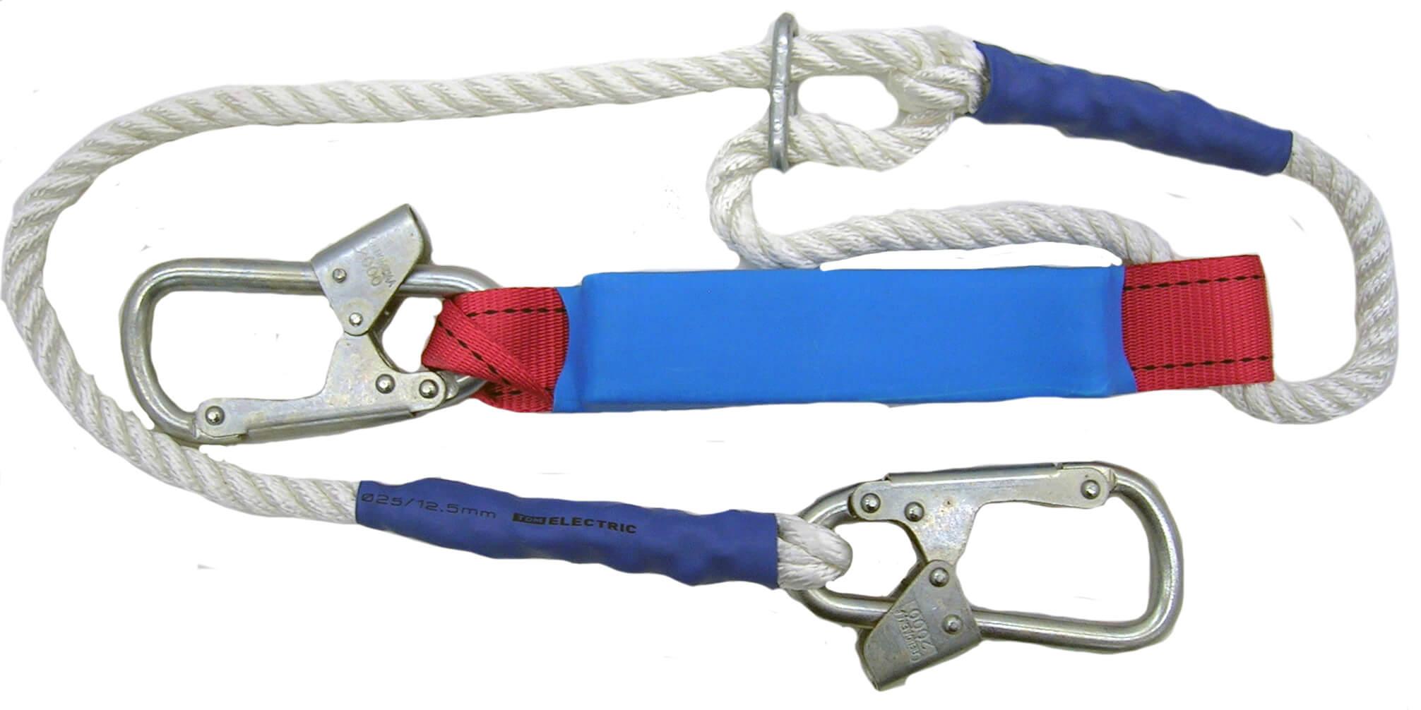 Строп для страховочных привязей с амортизатором из полиамидного каната регулируемый – аВр