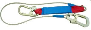 Строп для страховочных привязей с амортизатором из металлического каната (троса) в ПВХ оплетке – аБ